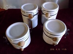 Vintage white cannister set