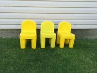 Kids indoor/outdoor chairs (3)
