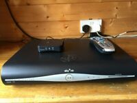 Sky HD+ box complete with remote control & wi-fi router.