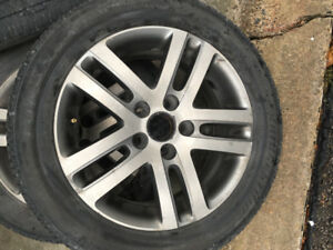 16 Inch Volkswagen Alloy Rims & Tires