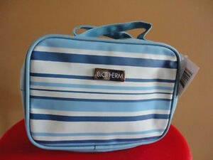 Brand new with tags biotherm blue striped makeup bag pouch London Ontario image 2