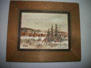 Original Painting by Well Known Metis Artist Henry Letendre