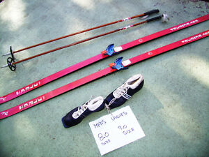 Economical Sets of Cross Country Skis/Poles/Boots $45.00-$60.00