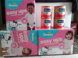 Pampers easy ups & Enfagow A+