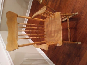 Solid wood old rocking chair