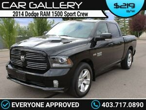 2014 Ram 1500 DODGE SPORT CREW HEMI w/Sunroof, Leather, Navi $21