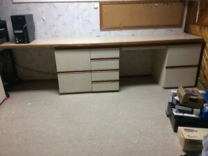 Office Desk Excellent Condition Plus Bulletin Board-Custom Made