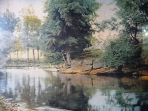 """Antique Colored Photo After Wallace Nutting """"Reflections"""" 1920's Stratford Kitchener Area image 3"""