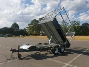 10 x 6 hydrualic tipper plant trailer