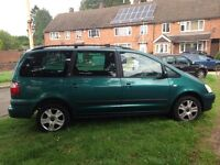 2002 ford galaxy 7 seater 2.3 petrol 2 keepers from new