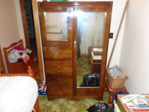 Antique Clothes Wardrobe with drawers