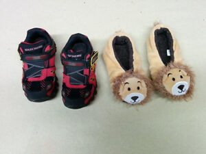 Sketchers Fire Truck Runners & Lion Slippers (Toddler Size 9)