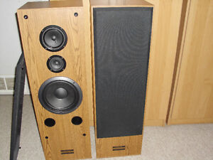 PIONEER TOWER SPEAKERS WITH RECEIVER AND CD