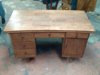 Bureau bois Teck d'Indonesie  / Teak wood desk from Indonesia