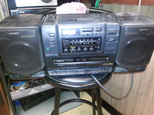 Sony Boombox with cassette/Cd