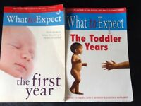 Baby care Books- 'What to Expect' books x2