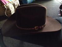 Men's RESISTOL SELF FORMING 7 x Fur Felt Cowboy Hat