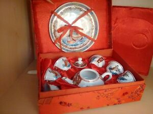 Vintage Tiny Chinese Tea Set, excellent condition