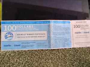 $100.00 Marlin Travel voucher