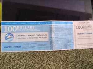 $100.00 Marlin Travel voucher