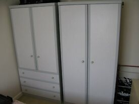 Two Wardrobes, One with drawers.