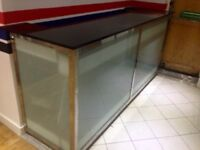 Restaurant granite top glass bar