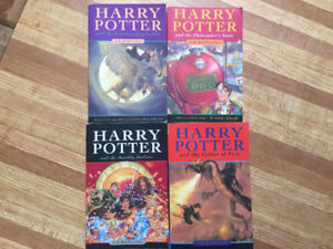 4 Harry Potter Books by JK Rowling