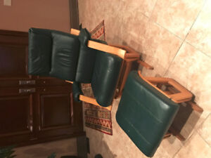 Leather Dutailier Glider Rocker Chair and Ottoman