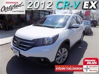 2012 Honda CR-V EX FWD (1) owner with extended warranty.