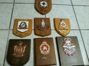 CANADIAN MILITARY ARMY NAVY WALL PLAQUES COLLECTION