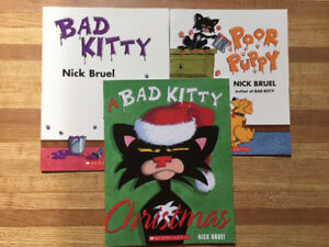 3 Bad Kitty Storybooks by Nick Bruel