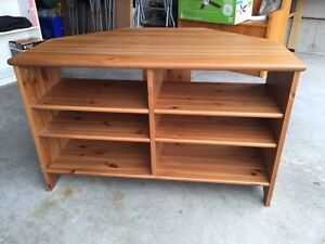 Solid Wood Corner TV/Entertainment Stand.