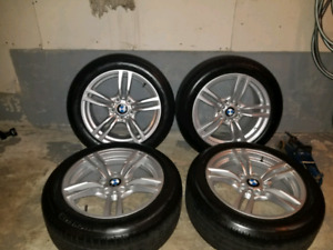 """BMW F30 17"""" RIMS AND TIRES"""