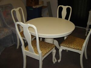 Oak Table and 4 Solid Chairs