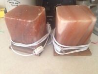 2 Himalayan Rock Salt Lamps