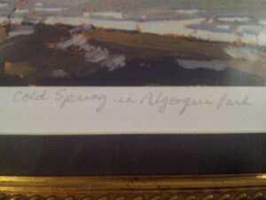 """Limited Edition """"Cold Spring in Algonquin Park"""" by Tom Thomson London Ontario image 3"""