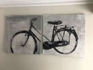 Set of two bicycle wall art