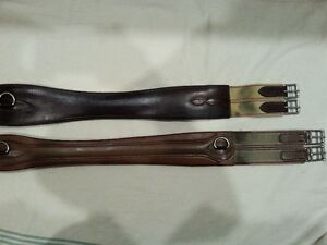 TWO LEATHER  GIRTHS
