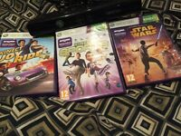 Xbox 360 Kinect and 3 Kinects Games