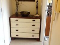 Solid wood painted chest of drawers