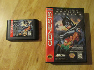 Sega Genesis BATMAN FOREVER Video Game Cartridge DC Comics