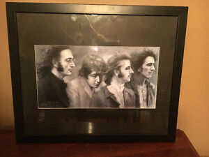 Framed Beatles Art
