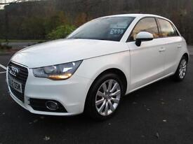 12/12 AUDI A1 1.6 TDI SPORT IN WHITE ONE OWNER WITH SERVICE HISTORY