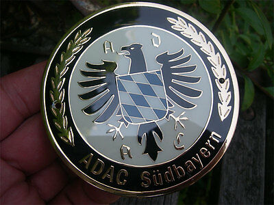 ADAC SÜDBAYERN  - Plakette Badge Kühler Autoplakette Oldtimer Emblem