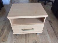 Bedside cabinet, drawer, shelf, table. x2