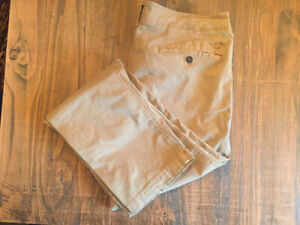 MENS AMERICAN EAGLE CHINOS, SIZE 36/34, ORG STRAIGHT, EXT FLEX