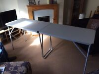 2 x 6ft folding trestle tables