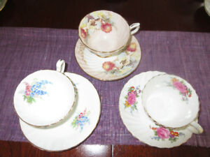3 Gorgeous Aynsley Cups and saucers - All perfect