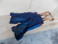 safery pants with husqvarna suspenders for chainsaw work