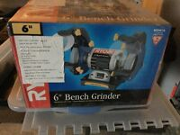 "BRAND NEW IN BOX 6"" BENCH GRINDER"